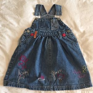 Denim Overalls-style Dress (fits size 4-5)